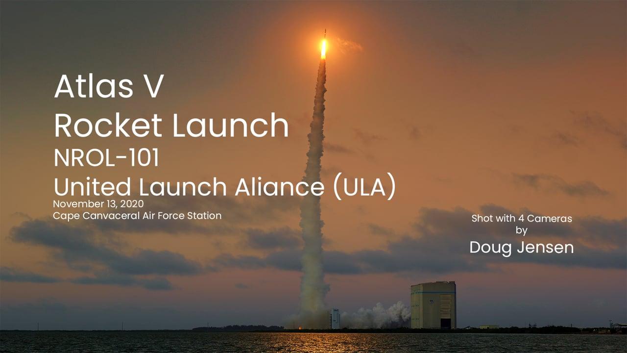 Atlas V rocket launches NROL-101 spy satellite (4K)