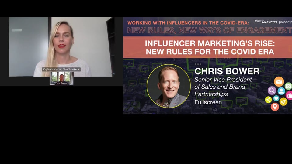 SESSION 3: INFLUENCER MARKETING'S RISE: NEW RULES FOR THE COVID ERA