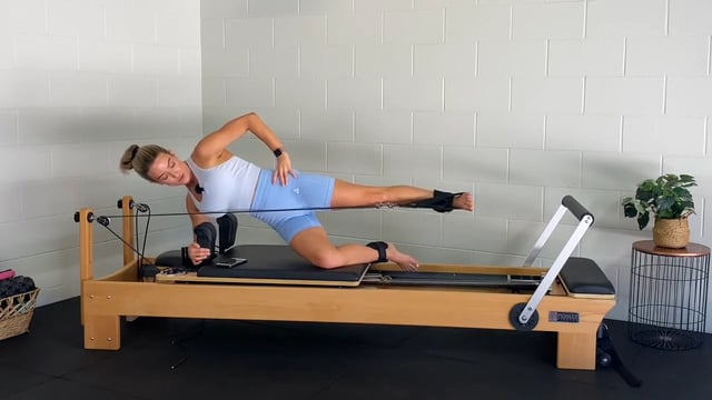 30min reformer workout with ankle weights