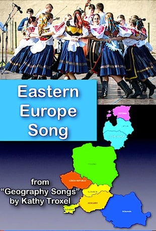 Watch Eastern Europe Song And Test From Geography Songs By Kathy